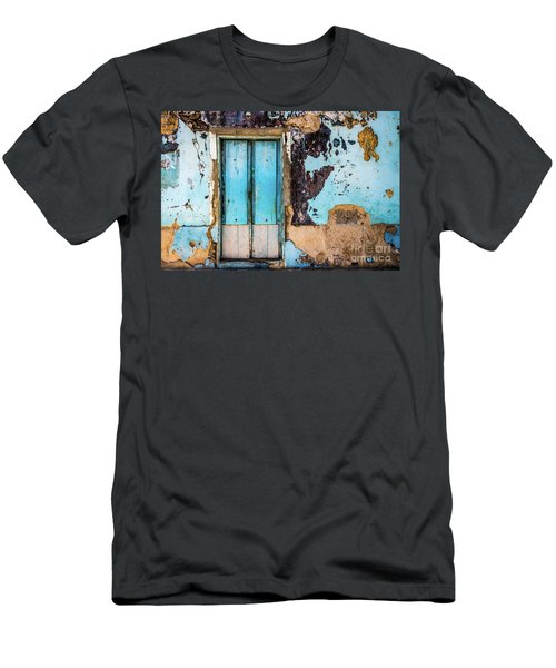 Blue Wall And Door Men's T-Shirt (Athletic Fit)