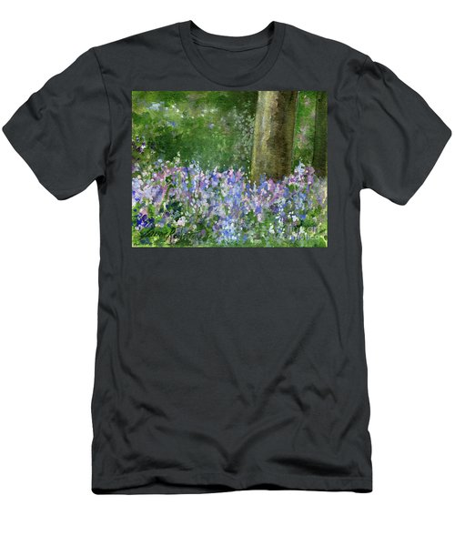 Bluebells Under The Trees Men's T-Shirt (Athletic Fit)