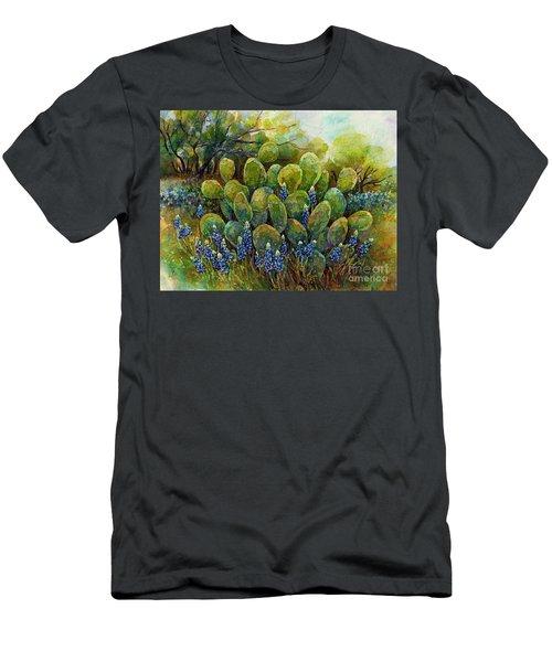 Bluebonnets And Cactus 2 Men's T-Shirt (Athletic Fit)