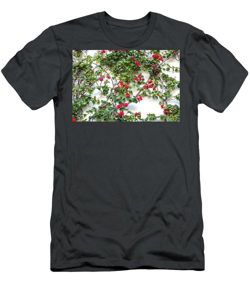 Blushing Blooms Men's T-Shirt (Athletic Fit)