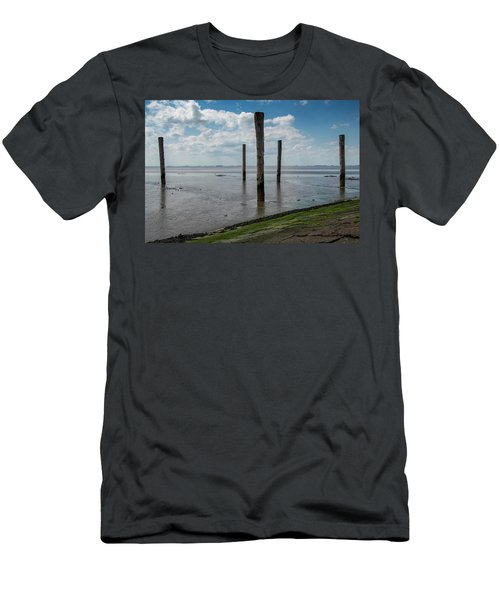 Men's T-Shirt (Athletic Fit) featuring the photograph Bohrinsel Viewing Platform by Anjo Ten Kate