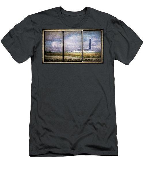 Bolivar Lighthouse Triptych 1 Men's T-Shirt (Athletic Fit)