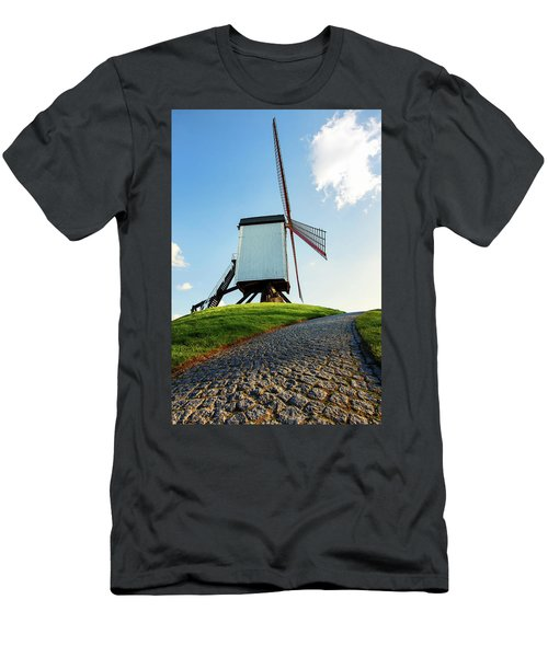 Bonne Chiere Windmill Bruges Belgium Men's T-Shirt (Athletic Fit)