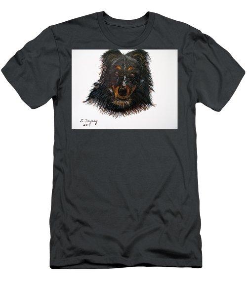 Border Collie Cross  Men's T-Shirt (Athletic Fit)