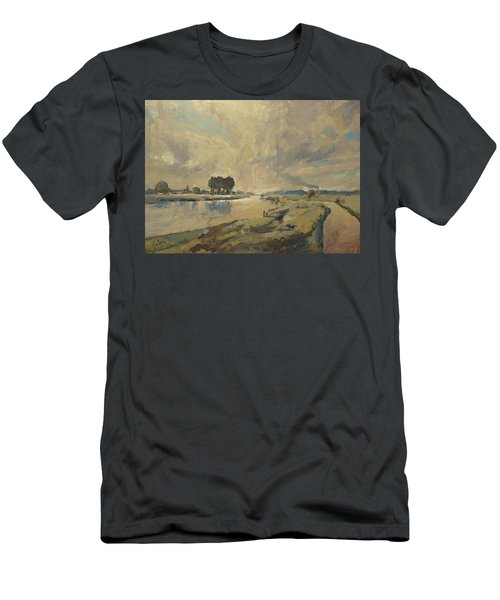 Border Maas Near Kotem With The View To Meers Men's T-Shirt (Athletic Fit)