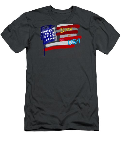 Born In The Usa - T-shirt Men's T-Shirt (Athletic Fit)