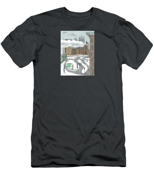 Boston After The Blizzard Men's T-Shirt (Athletic Fit)