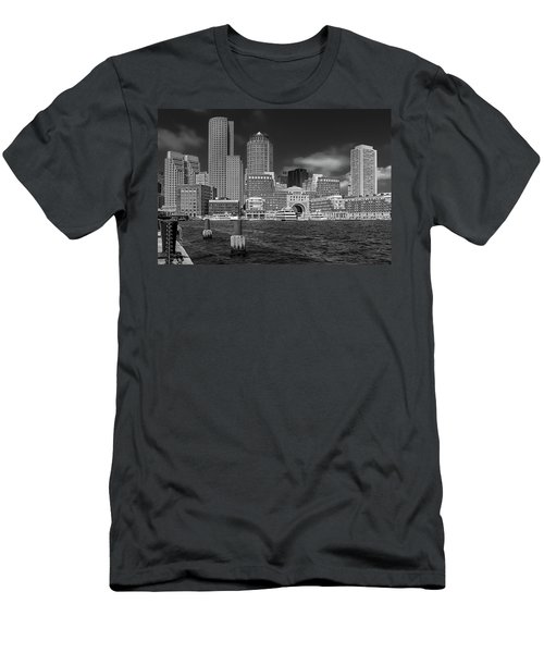 Boston Harbor Skyline Men's T-Shirt (Athletic Fit)