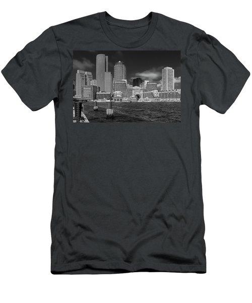 Boston Harbor Skyline Men's T-Shirt (Athletic Fit)