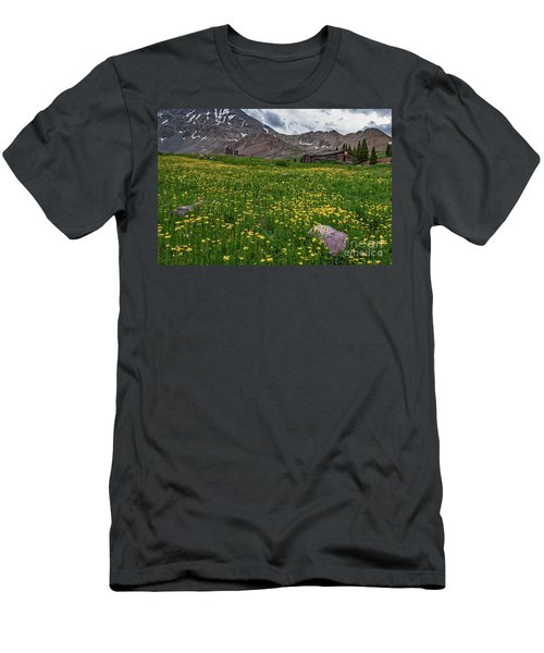 Men's T-Shirt (Athletic Fit) featuring the photograph  Boston Mining Company  by Bitter Buffalo Photography