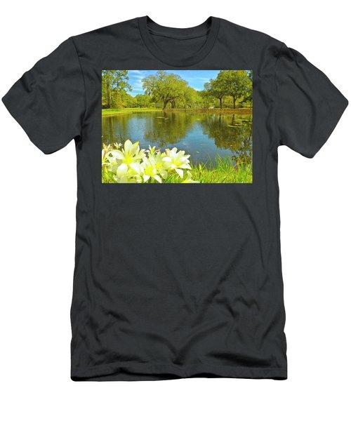 Botanical Gardens Pond Men's T-Shirt (Athletic Fit)