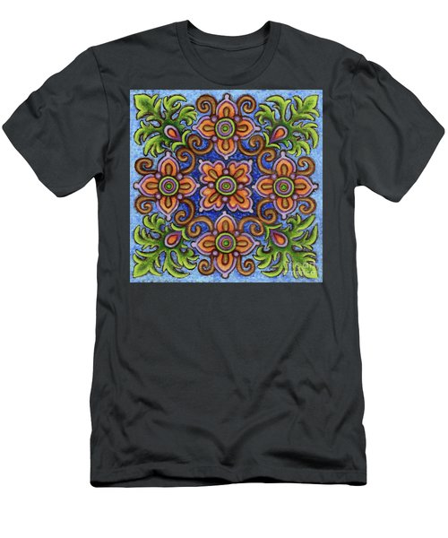 Botanical Mandala 1 Men's T-Shirt (Athletic Fit)