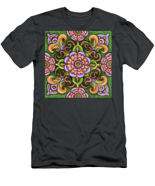 Botanical Mandala 5 Men's T-Shirt (Athletic Fit)