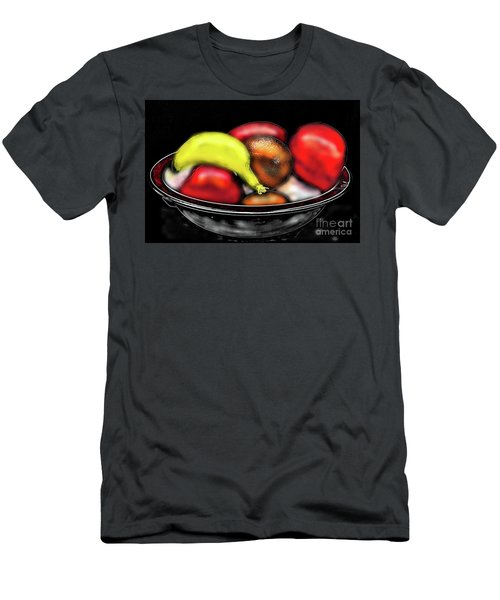 Men's T-Shirt (Athletic Fit) featuring the digital art Bowl Of Fruit by James Fannin
