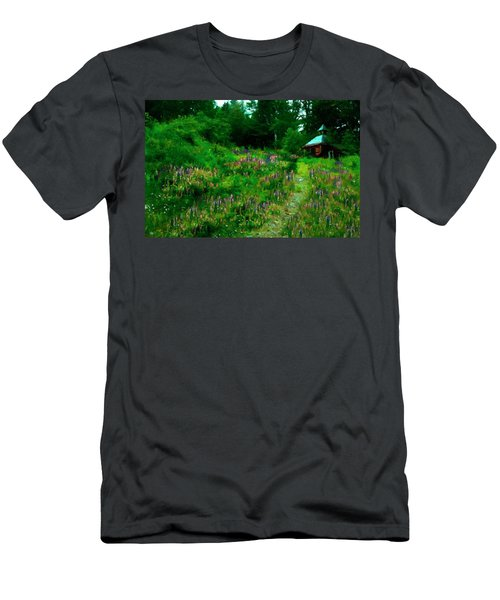 Men's T-Shirt (Athletic Fit) featuring the photograph Breeze On The Lupine Field by Wayne King