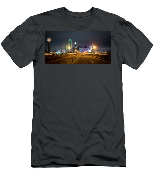 Men's T-Shirt (Athletic Fit) featuring the photograph Bridge To Dallas by David Morefield