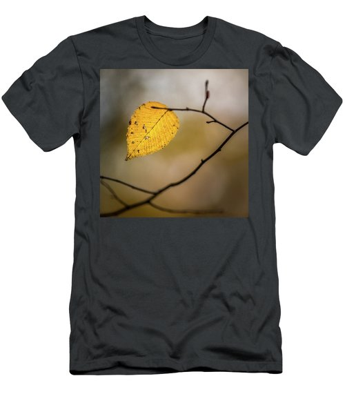 Men's T-Shirt (Athletic Fit) featuring the photograph Bright Fall Leaf 8 by Michael Arend