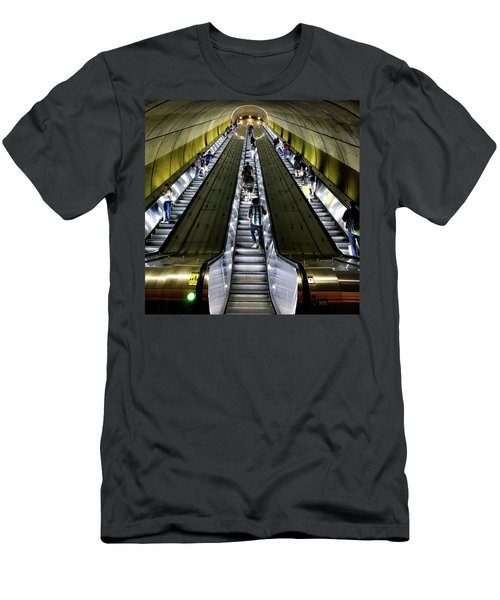Bright Lights, Tall Escalators Men's T-Shirt (Athletic Fit)