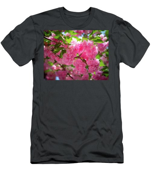 Men's T-Shirt (Athletic Fit) featuring the photograph Bright Pink Blossoms by Lora J Wilson