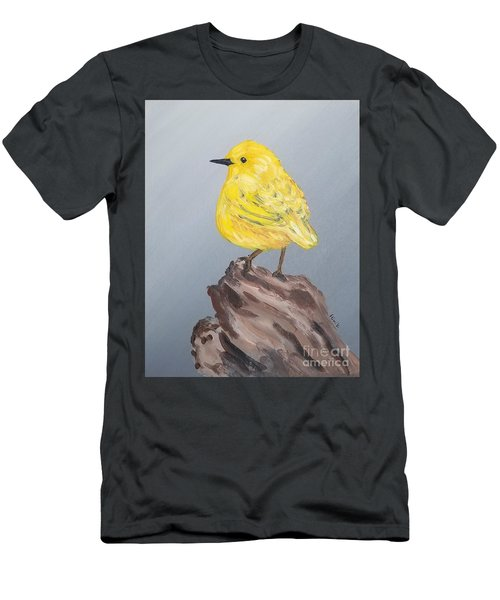 Men's T-Shirt (Athletic Fit) featuring the painting Bright Spot by Maria Langgle