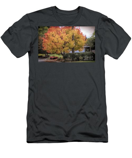 Brilliant Fall Color Tree Yellows Oranges Seasons  Men's T-Shirt (Athletic Fit)