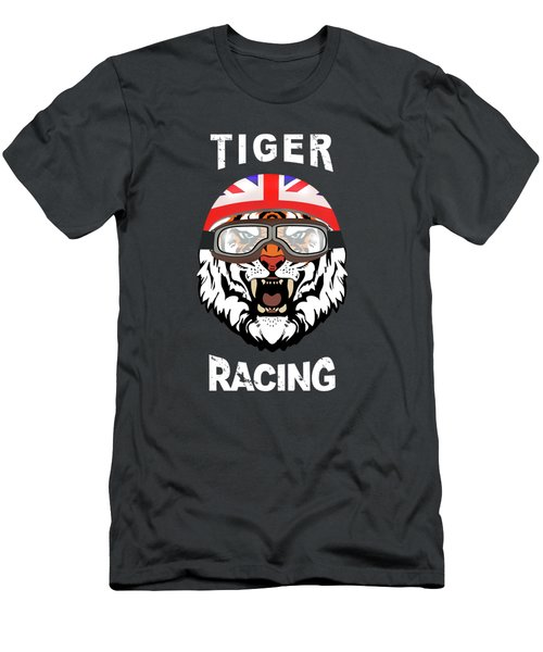 British Tiger Racing Men's T-Shirt (Athletic Fit)