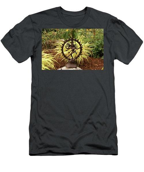 Bronze Shiva In Garden Men's T-Shirt (Athletic Fit)