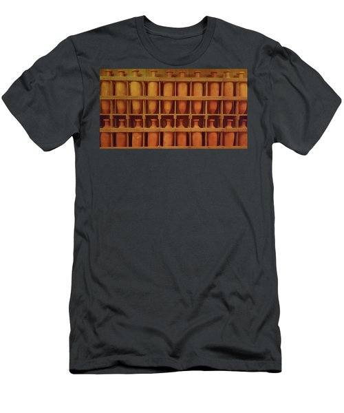 Brown Pots Men's T-Shirt (Athletic Fit)