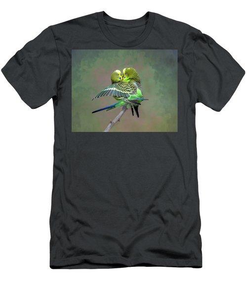Budgie Love Men's T-Shirt (Athletic Fit)