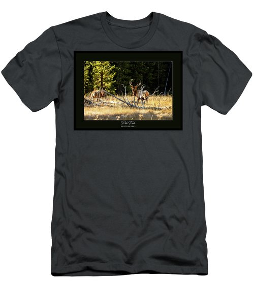 Men's T-Shirt (Athletic Fit) featuring the photograph Bull Elk by Pete Federico