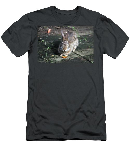 Men's T-Shirt (Athletic Fit) featuring the photograph Bunny Wants A Carrot by Trina Ansel