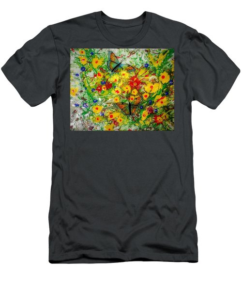 Butterfly Delight Men's T-Shirt (Athletic Fit)
