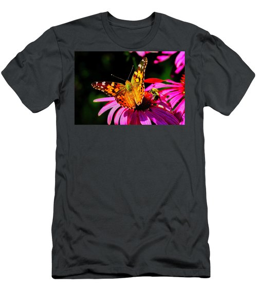 Men's T-Shirt (Athletic Fit) featuring the photograph Butterfly Wings Open by Meta Gatschenberger