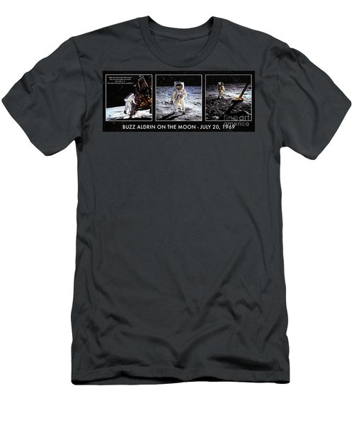 Buzz Aldrin On The Moon Men's T-Shirt (Athletic Fit)