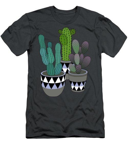 Cactus Art03_pot#4 Men's T-Shirt (Athletic Fit)