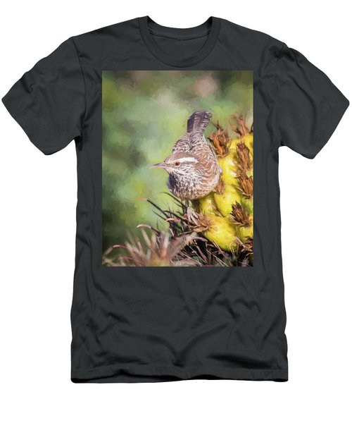 Cactus Wren Men's T-Shirt (Athletic Fit)