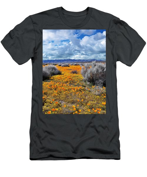 California Poppy Patch Men's T-Shirt (Athletic Fit)
