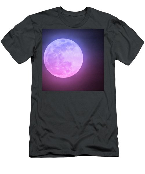 Cancer Super Wolf Blood Moon Near Eclipse Men's T-Shirt (Athletic Fit)