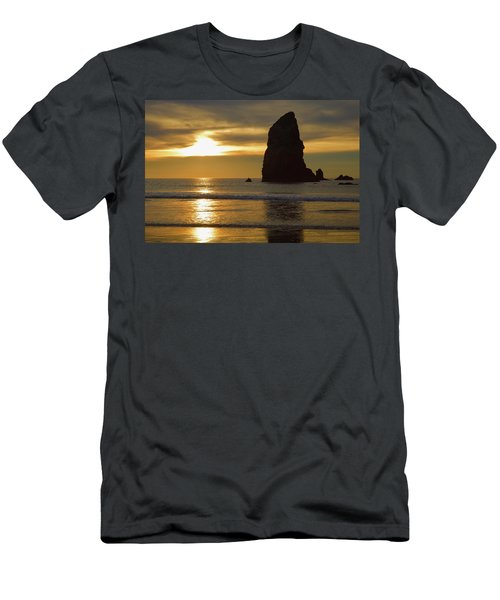 Cannon Beach November Evening Men's T-Shirt (Athletic Fit)