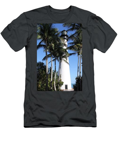 Cape Florida Lighthouse - Key Biscayne, Miami Men's T-Shirt (Athletic Fit)