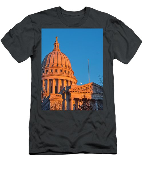 Capitol - Madison - Wisconsin- Sunset 2 Men's T-Shirt (Athletic Fit)