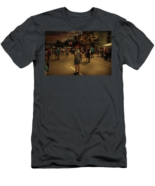 Men's T-Shirt (Athletic Fit) featuring the photograph Car-free Day No. 7 by Juan Contreras