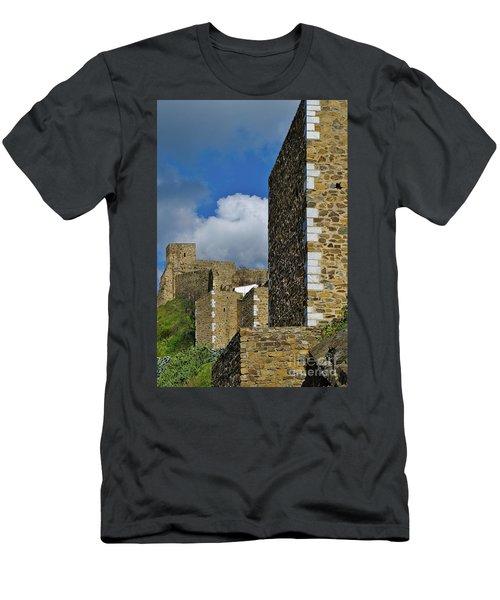 Castle Wall In Alentejo Portugal Men's T-Shirt (Athletic Fit)
