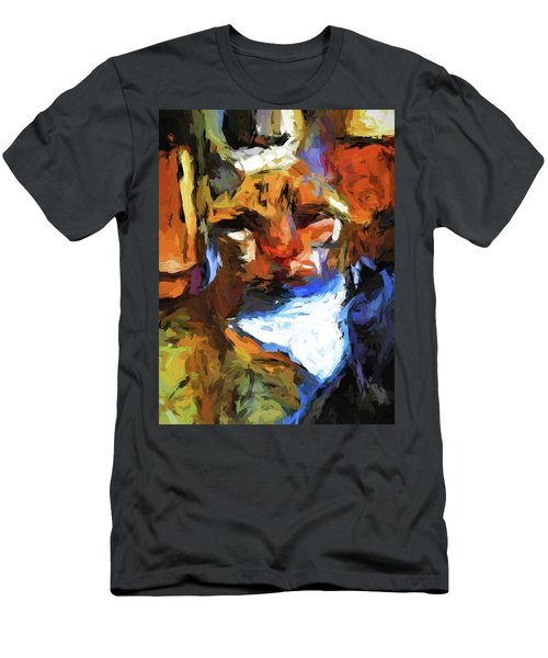 Cat Behind Cat In The Kitchen Men's T-Shirt (Athletic Fit)