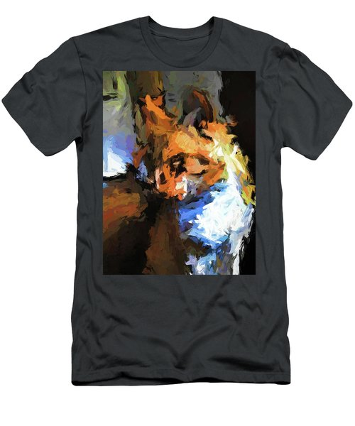 Cat With The Turned Head Men's T-Shirt (Athletic Fit)