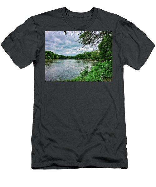 Men's T-Shirt (Athletic Fit) featuring the photograph Cedar Bend Iowa by Dan Miller