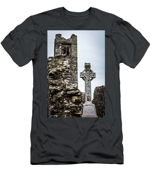 Celtic Cross At Hill Of Slane Men's T-Shirt (Athletic Fit)