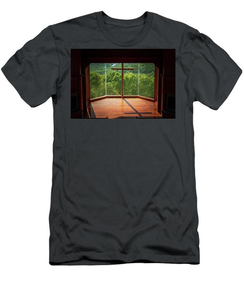 Men's T-Shirt (Athletic Fit) featuring the photograph Chapel Interior Top Of The Rock by Allin Sorenson