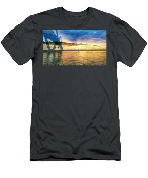 Charleston Harbor Sc Men's T-Shirt (Athletic Fit)