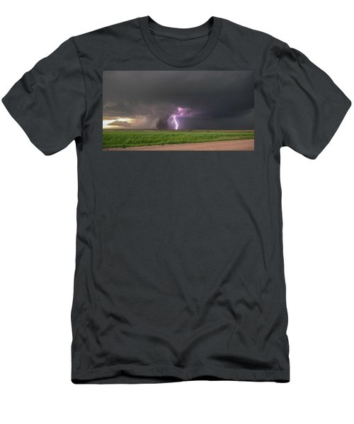 Men's T-Shirt (Athletic Fit) featuring the photograph Chasing Naders In Nebraska 017 by Dale Kaminski